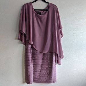 Adrianna Papell Capelet Dress